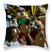 Four Flyer's Throw Pillow