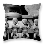 Four For Vienna Throw Pillow