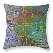 Four Hearts Intertwined Throw Pillow