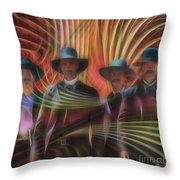 Four Horsemen - Square Version Throw Pillow