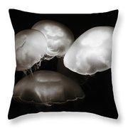 Four Jellyfish Throw Pillow