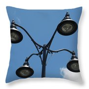 Four Lamps Throw Pillow
