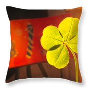 Four Leaf Clover In Studio 1 Throw Pillow