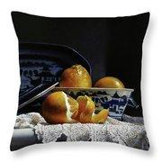 Four Lemons With Canton Throw Pillow