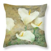 Four Lilies Throw Pillow