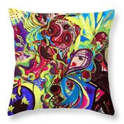 Experimenting With Creation Throw Pillow