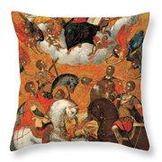 Four Military Saints Throw Pillow