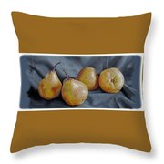 Four Pears Throw Pillow