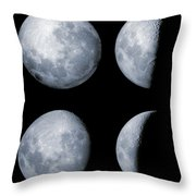 Four Phases Of The Moon Throw Pillow by Rolf Geissinger