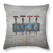Four Pipes Throw Pillow