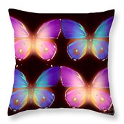 Four Pretty Butters Throw Pillow