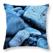 Four Rocks In Blue Throw Pillow