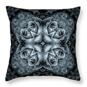 Noir Four Roses Symmetrical Focus Throw Pillow