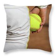 Four Seam Throw Pillow by Laddie Halupa