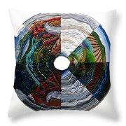 Four Seasons - Day And Night Throw Pillow