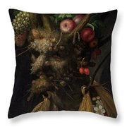 Four Seasons In One Head Throw Pillow
