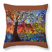 Four Seasons Throw Pillow