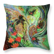 Four Seasons Of Vine Summer Throw Pillow