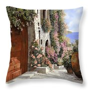 four seasons- spring in Tuscany Throw Pillow