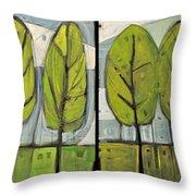 Four Seasons Tree Series Throw Pillow
