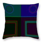 Four Square Throw Pillow