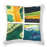 Four Squares Fish Tail Throw Pillow