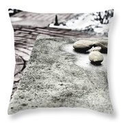 Four Stones Throw Pillow