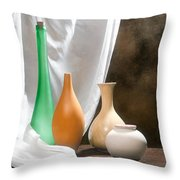 Four Vases I Throw Pillow by Tom Mc Nemar