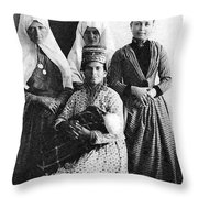 Four Women From Bethlehem Throw Pillow