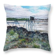 Fouras Village La Rochelle France 2016 Throw Pillow