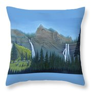 Fourmile Falls And Fall Creek Falls Throw Pillow
