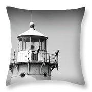 Fourteen Foot Shoal Lighthouse Throw Pillow