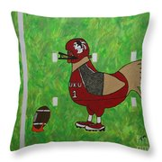 Fourth And Goal Throw Pillow