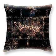 Fourth Of July Celebration Throw Pillow