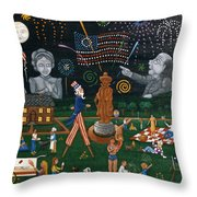 Fourth Of July Celebration Litchfield County Conn. Throw Pillow