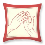 Fourth Station- Jesus Meets His Mother Throw Pillow