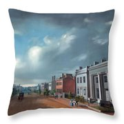 Fourth Street East From Vine - Cincinnati Throw Pillow
