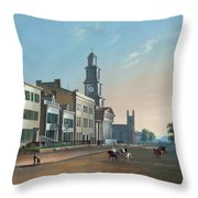 Fourth Street West From Vine - Cincinnati Throw Pillow