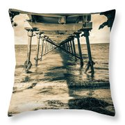 Fowlers Bay Jetty Throw Pillow