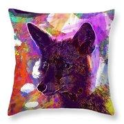 Fox Animal Tuscany  Throw Pillow