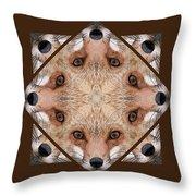 Fox Close Up Throw Pillow