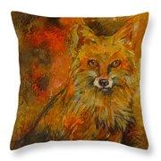Fox Fire Throw Pillow