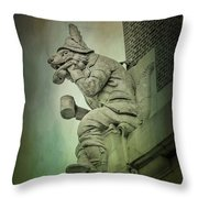 Fox Grotesque Throw Pillow