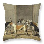 Fox Hounds Throw Pillow