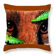 Fox In Hiding Throw Pillow