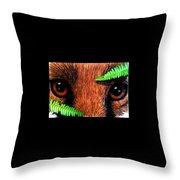 Fox In Hiding Throw Pillow