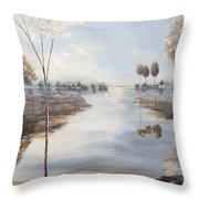 Fox Lake Throw Pillow