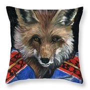 Fox Medicine Throw Pillow
