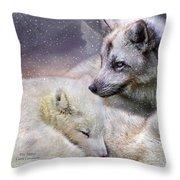 Fox Moods Throw Pillow