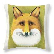 Fox Portrait Throw Pillow